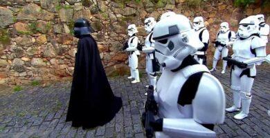Broma De Darth Vader Y Soldados Imperiales