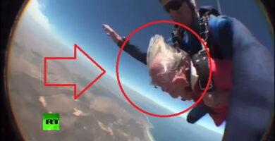 abuela se tira en paracaídas a sus 100 años