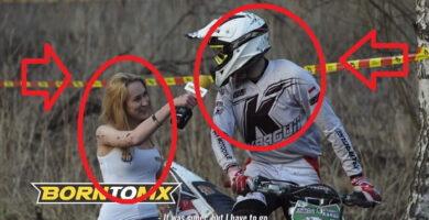 Reportera Entrevista A Piloto De Motocross