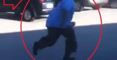 gordo haciendo un salto mortal